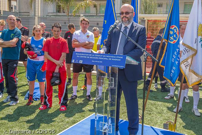 Travaux d am lioration des casernes inauguration du terrain de sport et de l - Travaux d amelioration ...